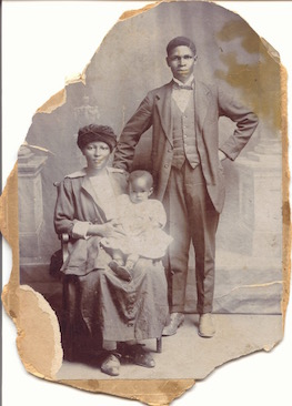 My Mother as baby, with my Grandfather and Grandmother (1920)