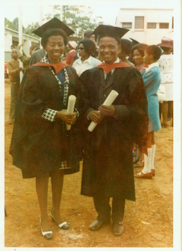 Mpho and I at our graduation (1973)
